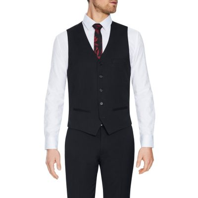 Fashion 4 Men - Tarocash Lynch Stretch Waistcoat Charcoal Xxl