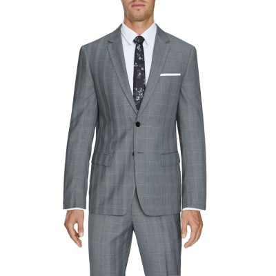 Fashion 4 Men - Tarocash Malek 2 Button Check Suit Grey 40