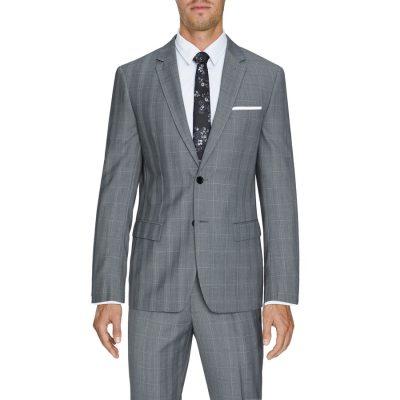 Fashion 4 Men - Tarocash Malek 2 Button Check Suit Grey 42