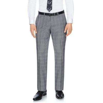 Fashion 4 Men - Tarocash Malek Check Pant Grey 42