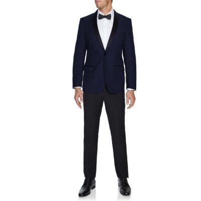 Fashion 4 Men - Tarocash Mercury Shawl Paisley Tuxedo Navy L