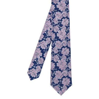 Fashion 4 Men - Tarocash Rothschild Floral Tie Pink 1