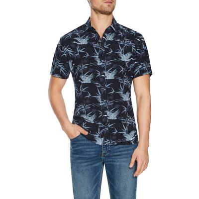 Fashion 4 Men - Tarocash Samuel Print Shirt Black M