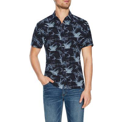 Fashion 4 Men - Tarocash Samuel Print Shirt Black Xxxl
