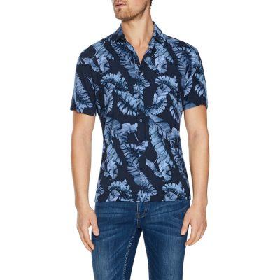 Fashion 4 Men - Tarocash San Sebastian Print Shirt Navy Xl