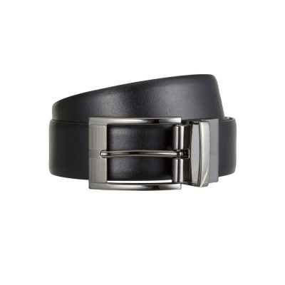 Fashion 4 Men - Tarocash Thomas Reversible Prong Belt Black/Tan 30