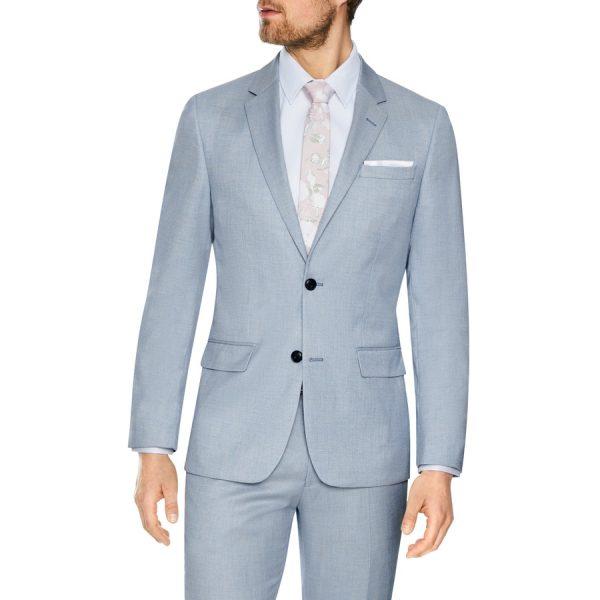 Fashion 4 Men - Tarocash Vaughn Slim Stretch 2 Button Suit Sky 32