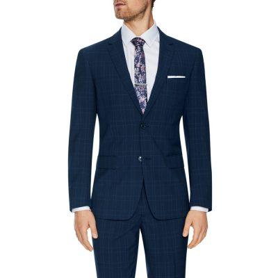 Fashion 4 Men - Tarocash Waterloo 2 Button Check Suit Navy 50