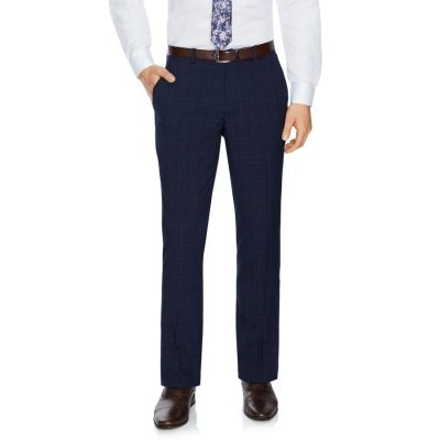 Fashion 4 Men - Tarocash Waterloo Check Pant Navy 34