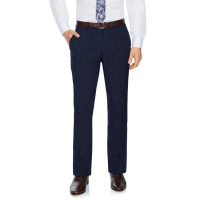 Fashion 4 Men - Tarocash Waterloo Check Pant Navy 38