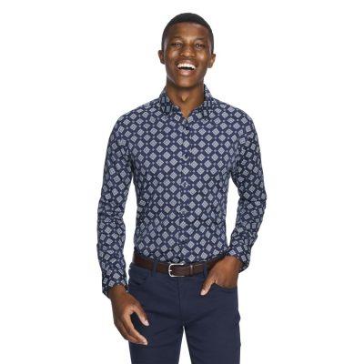 Fashion 4 Men - yd. Aiden Slim Fit Shirt Dark Blue L