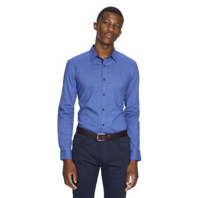 Fashion 4 Men - yd. Apsley Slim Fit Shirt Blue Xs