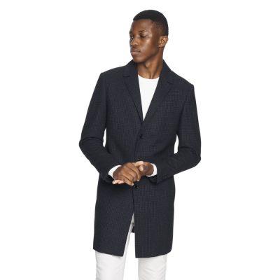 Fashion 4 Men - yd. Baker Check Duster Dark Blue L