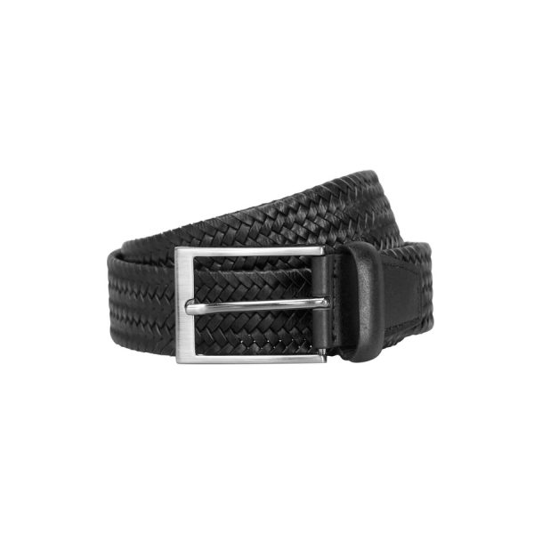 Fashion 4 Men - yd. Braided Belt Black 34