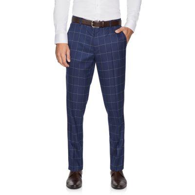 Fashion 4 Men - yd. Bryce Slim Check Pant Royal 42