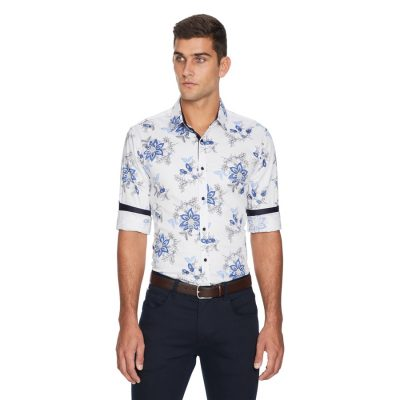 Fashion 4 Men - yd. Cassius Slim Fit Shirt White M