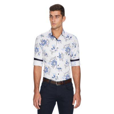 Fashion 4 Men - yd. Cassius Slim Fit Shirt White Xxl