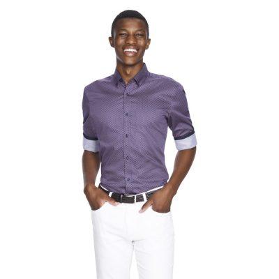 Fashion 4 Men - yd. Coen Slim Fit Shirt Burgundy Xs