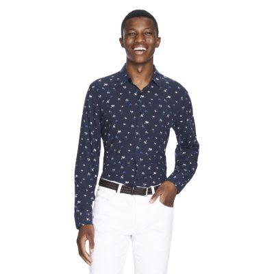 Fashion 4 Men - yd. Collins Shirt Dark Blue S