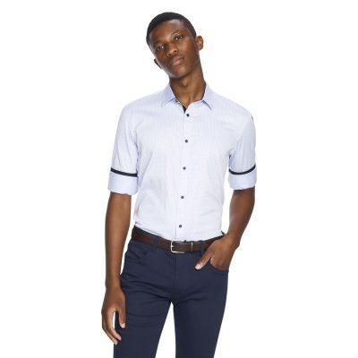 Fashion 4 Men - yd. Freddre Slim Fit Shirt Light Blue S