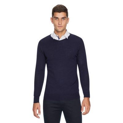Fashion 4 Men - yd. Golburn Vee Navy M
