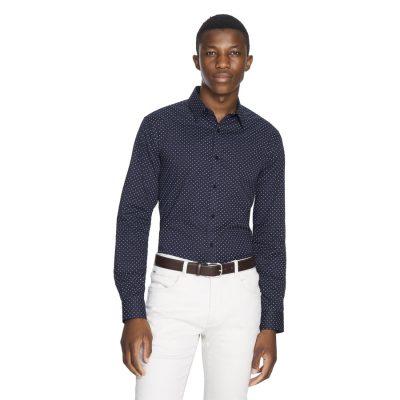 Fashion 4 Men - yd. Kyan Shirt Dark Blue 2 Xs