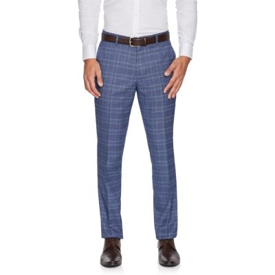 Fashion 4 Men - yd. Leo Skinny Check Pant Grey 33
