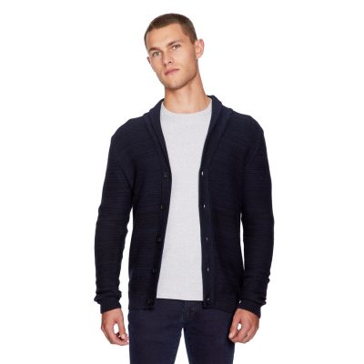 Fashion 4 Men - yd. Loki Cardigan Navy 2 Xs