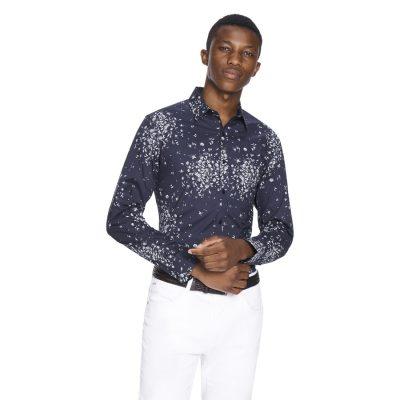 Fashion 4 Men - yd. Mason Slim Fit Shirt Dark Blue M