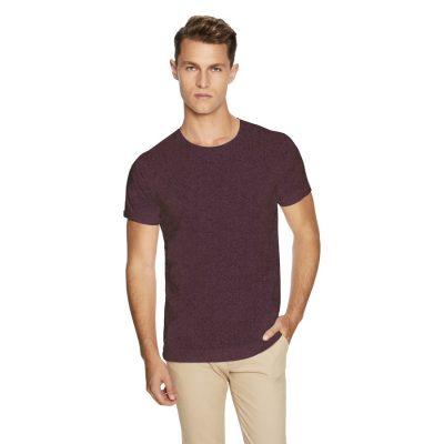 Fashion 4 Men - yd. Muscle Basic Tee Burgundy Marle 2 Xl