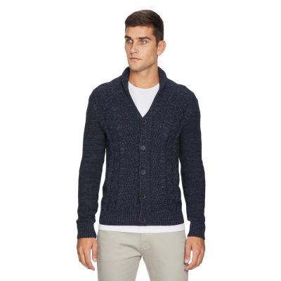 Fashion 4 Men - yd. Ollie Shawl Cardigan Navy 2 Xs