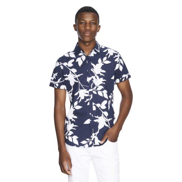 Fashion 4 Men - yd. Paddo Short Sleeve Shirt Dark Blue Xl