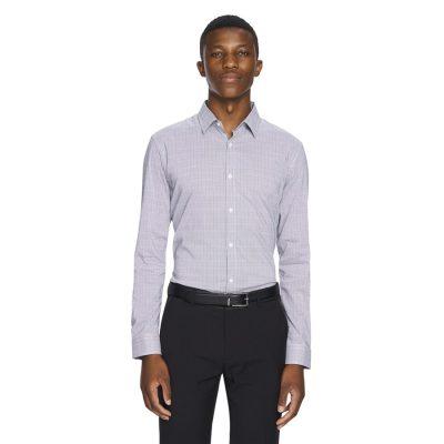 Fashion 4 Men - yd. Sawyer Slim Fit Dress Shirt Black S