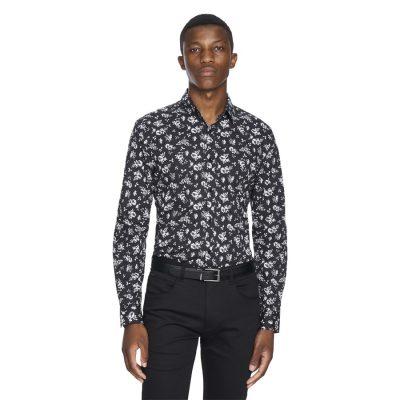 Fashion 4 Men - yd. Tennesyn Floral Shirt Black Xl