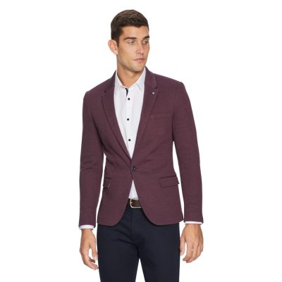 Fashion 4 Men - yd. Zappa Stretch Blazer Burgundy M