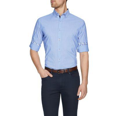 Fashion 4 Men - Tarocash Ahern Stretch Stripe Shirt Blue Xxl