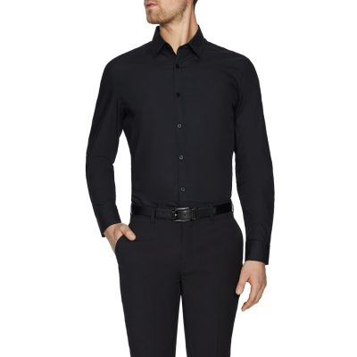 Fashion 4 Men - Tarocash Alby Dress Shirt Black Xs