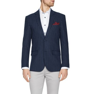 Fashion 4 Men - Tarocash Angus Stripe Blazer Navy Xs