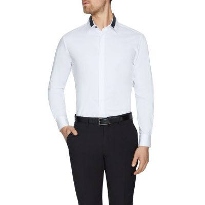 Fashion 4 Men - Tarocash Anton Slim Stretch Dress Shirt White Xs