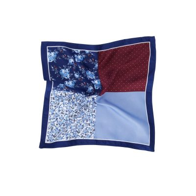 Fashion 4 Men - Tarocash Baldwin Pocket Square Blue 1