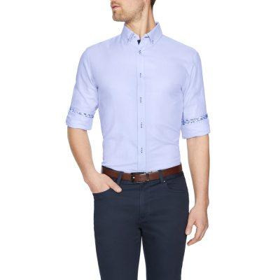 Fashion 4 Men - Tarocash Berwick Textured Shirt Lilac M