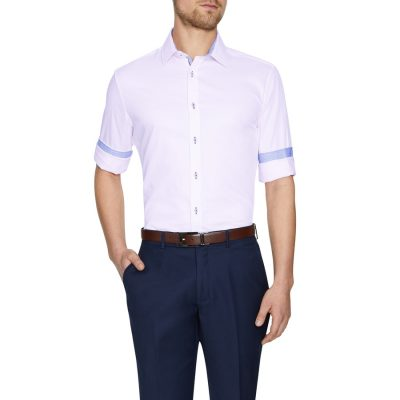 Fashion 4 Men - Tarocash Bowie Textured Shirt Pink M