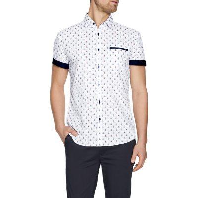 Fashion 4 Men - Tarocash Cruisin Print Shirt White S