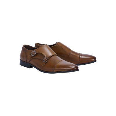 Fashion 4 Men - Tarocash Double Monk Dress Shoe Brown 11