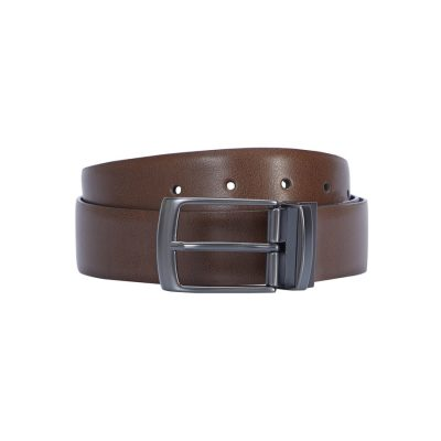 Fashion 4 Men - Tarocash Harry Reversible Prong Belt Tan/Black 44