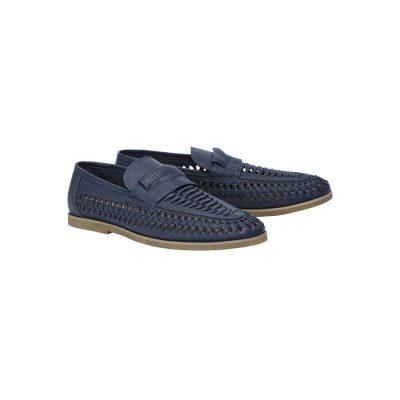 Fashion 4 Men - Tarocash Harry Slip On Shoe Navy 10