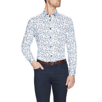 Fashion 4 Men - Tarocash Jared Florl Print Shirt White Xxl