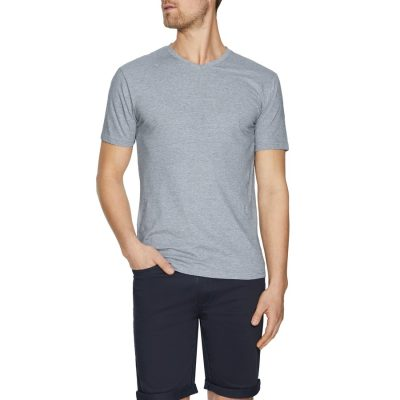 Fashion 4 Men - Tarocash Kraft Stripe V Neck Tee Grey Xs