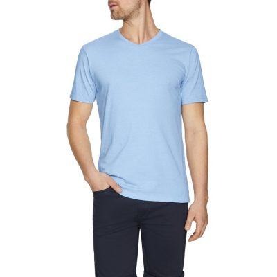 Fashion 4 Men - Tarocash Kraft Stripe V Neck Tee Sky Xl