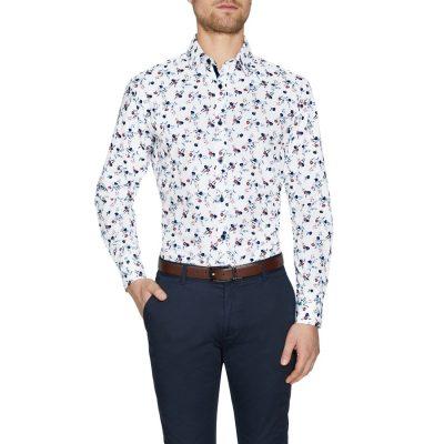 Fashion 4 Men - Tarocash Lionel Floral Print White 5 Xl